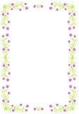 Blom- gräns - vektorillustration Arkivbilder