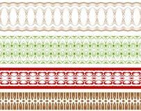 Blom- gränsvektor Vektor Illustrationer