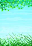 blom- gräs- naturligt för bakgrund royaltyfri illustrationer