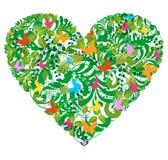 blom- grön förälskelsefjädersommar Arkivfoton