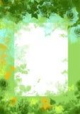 blom- grön grungefjäder för bakgrund Arkivbilder