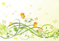 blom- grön modell Royaltyfria Bilder