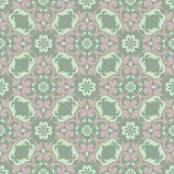 blom- green för bakgrund Sömlös modell med blommadesigner