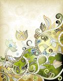 blom- green för abstrakt bakgrund Royaltyfri Fotografi