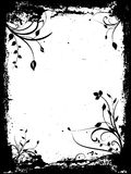 blom- grunge royaltyfri illustrationer