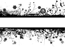 blom- grunge Arkivbilder