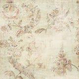 blom- grunge för antik bakgrund Royaltyfri Bild