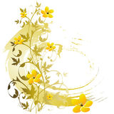 blom- grunge för bakgrund royaltyfri illustrationer