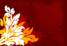 blom- grunge för bakgrund Royaltyfri Bild