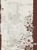 blom- grunge för bakgrund Royaltyfri Fotografi
