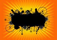 blom- grunge för design Arkivbild