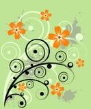blom- grunge för design Royaltyfri Fotografi