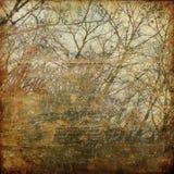 blom- grunge för konstbakgrundskort Arkivfoton