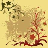 blom- grunge för sammansättning Arkivfoto