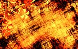 Blom- Grunge texturerar arkivbild