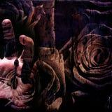 blom- grungehand royaltyfri illustrationer