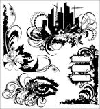 blom- grungeillustration Arkivfoto
