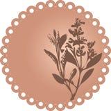 blom- grungeillustrationvektor Royaltyfri Bild