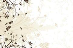 blom- grungescroll Royaltyfri Fotografi