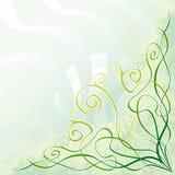 blom- grungeswirl Arkivbild