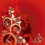 blom- grungevektor för bakgrund Arkivbild