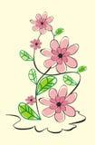 blom- grungevektor för bakgrund Arkivfoton