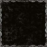 blom- grungy för svart kant Arkivbilder
