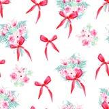 Blom- grupper för beröm med den sömlösa vektormodellen för pilbågar Arkivfoto