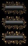 blom- guld för baner Royaltyfria Foton