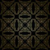 Blom- guld- modell på sömlös svart bakgrund - vektor illustrationer