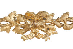 blom- guld- prydnad Royaltyfria Foton