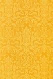Blom- guld- tapet Royaltyfri Fotografi