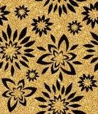 blom- guld- wallpaper Arkivfoton