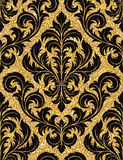 blom- guld- wallpaper Royaltyfri Fotografi