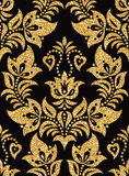 blom- guld- wallpaper Royaltyfria Bilder