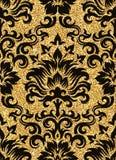 blom- guld- wallpaper Royaltyfri Bild