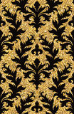 blom- guld- wallpaper Arkivbilder