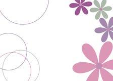 blom- gyckel stock illustrationer