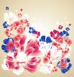 blom- hälsning för abstrakt kort royaltyfri illustrationer