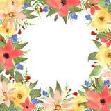 Blom- hälsningkort, inbjudan, baner Ram för dina textwi Royaltyfria Foton