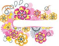 blom- härlig design Arkivbild