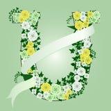 blom- hästsko royaltyfri illustrationer