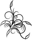 blom- hörn royaltyfri illustrationer