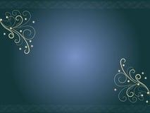 blom- hörndesign stock illustrationer