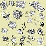 blom- härliga element Royaltyfri Fotografi