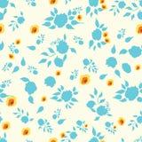 Blom- hand dragen sömlös bakgrund Royaltyfri Fotografi