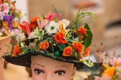 Blom- hatt Royaltyfria Bilder
