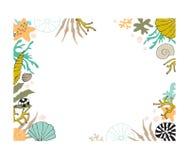 Blom- havsväxtram för vektor Arkivfoto