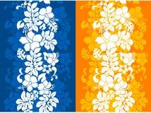 blom- hawaianskt seamless för bakgrund Arkivfoton