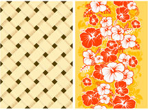 blom- hawaianskt seamless för bakgrund Arkivbild